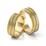 Ekstrawaganckie dwukolorowe obrączki ślubne