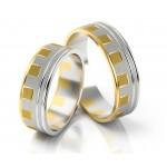 Gustowne dwukolorowe obrączki ślubne