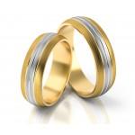Stylowe dwukolorowe obrączki ślubne