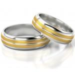 Dwukolorowe obrączki ślubne z gustownym wykończeniem