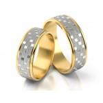 Dwukolorowe obrączki ślubne o ciekawym designie