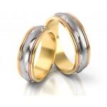 Wielobarwne obrączki ślubne w ekstrawaganckim stylu