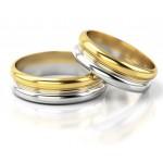 Nietypowe dwukolorowe obrączki ślubne
