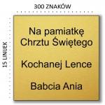 Złoty komplet krzyżyk łańcuszek Prezent Grawer GRATIS