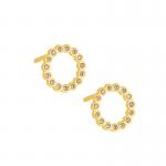 Złote kolczyki kółeczka z cyrkoniami
