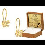 Złote kolczyki dziecięce motylki na biglu