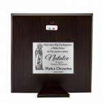 Srebrny obrazek Pamiątka Ślub Chrzest na prezent Grawer GRATIS