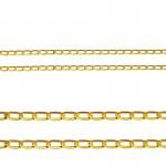 Złoty komplet serduszko z cyrkoniami łańcuszek