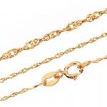 Złoty komplet dwukolorowy motylek z łańcuszkiem