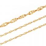 Złoty komplet serduszko z łańcuszkiem