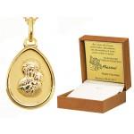 Komplet złoty łańcuszek z medalikiem