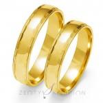 Obrączki ślubne z żółtego złota subtelnie ozdobione