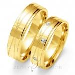 Ekstrawaganckie obrączki ślubne z żółtego złota