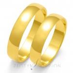 Tradycyjne zaokrąglone obrączki ślubne