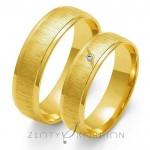Jednobarwne obrączki ślubne z żółtego złota wytwornie wykończone