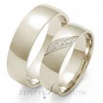 Eleganckie i stylowe obrączki ślubne z białego złota