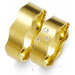 Obrączki ślubne z żółtego złota i oryginalnym kształcie