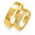 Obrączki ślubne z białego złota oryginalnie wykończone