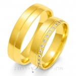 Eleganckie obrączki ślubne z  żółtego złota z ozdobnym brzegiem