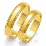 Klasyczne obrączki ślubne ze stylowym i delikatnym wykończneniem