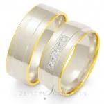 Wytworne szerokie obrączki ślubne z białego złota