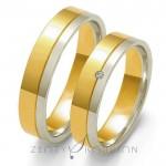 Obrączki ślubne stylowe i eleganckie z diamentem