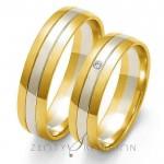 Urzekające dwubarwne obrączki ślubne z brylantem