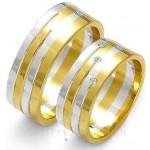 Szerokie obrączki ślubne z ozdobnymi nacięciami