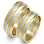 Złote dwukolorowe obrączki ślubne