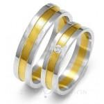 Obrączki ślubne z żółtym złotem i cyrkonią
