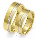 Eleganckie obrączki ślubne żółto-białe złoto z wykwintnym zdobieniem