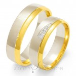 Urocze dwukolorowe obrączki ślubne z diamentami