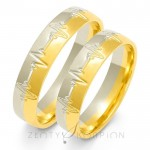 Obrączki ślubne ozdobione symbolicznymi nacięciami