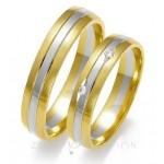 Obrączki ślubne o stylowym zdobieniu z cyrkoniami