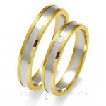 Obrączki ślubne dwukolorowego złota i brylantem