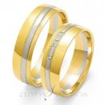 Obrączki ślubne dwukolorowe złote