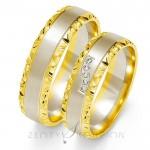 Dwukolorowe ozdobne obrączki ślubne