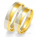 Dwukolorowe stylowe obrączki ślubne