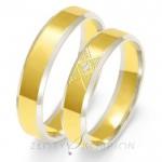 Obrączki ślubne z diamentowaniem i cyrkonią