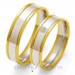 Stylowe obrączki ślubne z kunsztownie osadzonym diamentem
