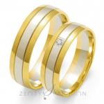 Obrączki ślubne w gustownym stylu z pojedynczym brylantem