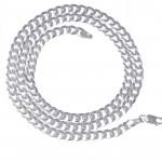 Srebrny łańcuszek pancerka z medalikiem