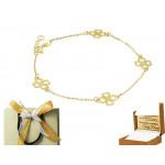 Złota bransoletka z koniczynką