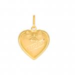 Złota zawieszka otwierany medalik serduszko