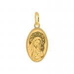 Złota zawieszka medalik owal