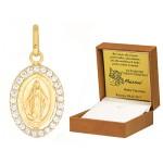 Złota zawieszka Cudowny medalik Niepokalanego Poczęcia