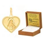 Złota zawieszka medalik serduszko