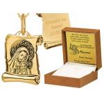 Złoty komplet oryginalny medalik łańcuszek