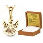 Złota urocza zawieszka aniołek Prezent Grawer GRATIS