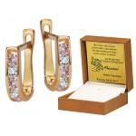 Klasyczne złote kolczyki z cyrkoniami